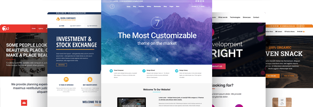The7 – The Most Customizable Theme on the Market!